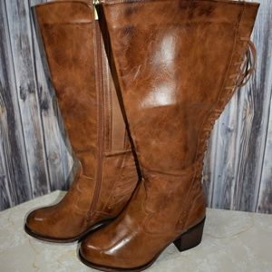 Torrid 8W Lace Back Brown Distressed Boots New